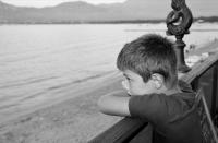 099 -Calvi, Corse, fin de journée. Tout est calme. PORTRAIT - FERRAS Catherine.JPG